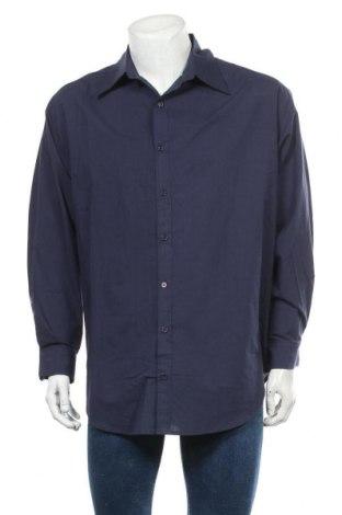 Мъжка риза Usha, Размер L, Цвят Син, Памук, Цена 24,15лв.
