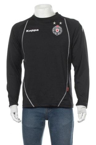 Мъжка спортна блуза Kappa, Размер L, Цвят Черен, 92% полиестер, 8% еластан, Цена 25,20лв.