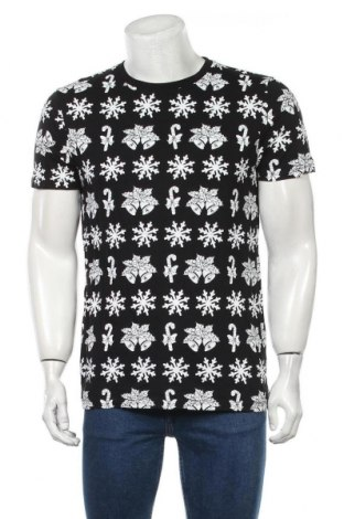 Мъжка тениска ASOS, Размер L, Цвят Черен, Памук, Цена 25,20лв.