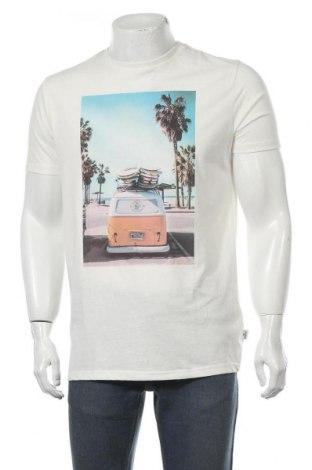 Мъжка тениска Kronstadt, Размер M, Цвят Екрю, Памук, Цена 11,76лв.