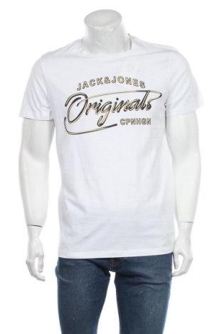 Мъжка тениска Originals By Jack & Jones, Размер L, Цвят Бял, Памук, Цена 30,80лв.