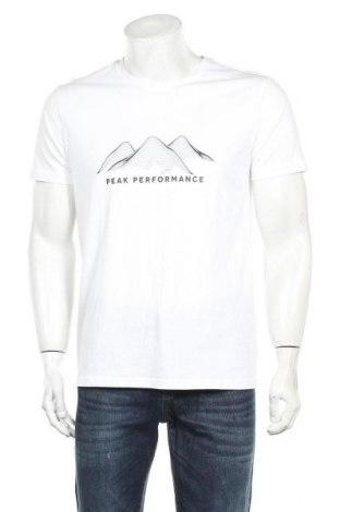 Tricou de bărbați Peak Performance, Mărime L, Culoare Alb, 100% bumbac, Preț 113,49 Lei