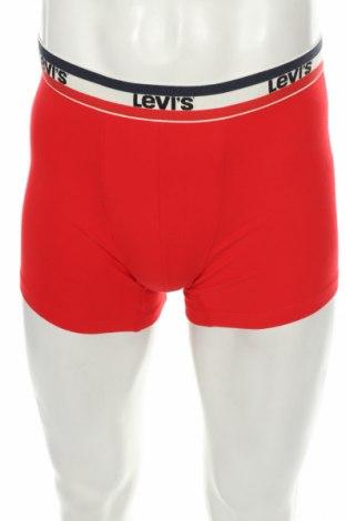Мъжки боксерки Levi's, Размер M, Цвят Червен, 95% памук, 5% еластан, Цена 19,08лв.