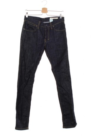 Мъжки дънки H&M, Размер S, Цвят Син, 99% памук, 1% еластан, Цена 6,83лв.
