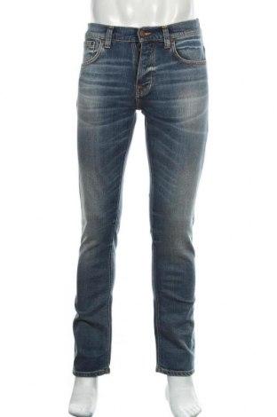 Мъжки дънки Nudie Jeans Co, Размер M, Цвят Син, 99% памук, 1% еластан, Цена 47,25лв.
