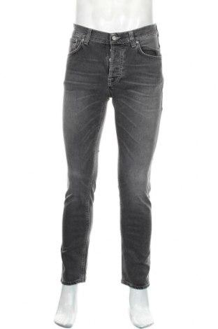 Мъжки дънки Nudie Jeans Co, Размер S, Цвят Сив, 99% памук, 1% еластан, Цена 80,55лв.