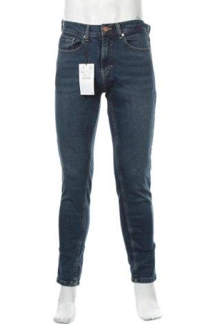 Мъжки дънки Zara, Размер S, Цвят Син, 99% памук, 1% еластан, Цена 31,05лв.