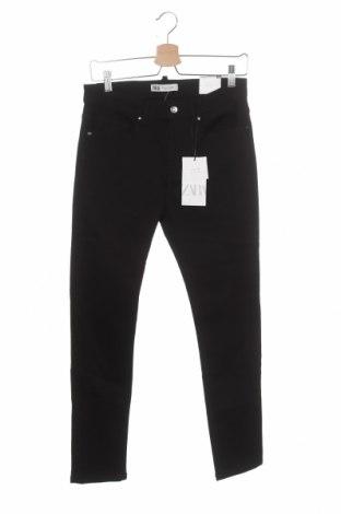 Мъжки дънки Zara, Размер XS, Цвят Черен, 98% памук, 2% еластан, Цена 20,70лв.