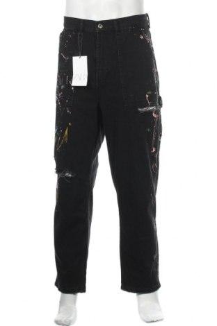 Мъжки дънки Zara, Размер XL, Цвят Черен, 100% памук, Цена 31,05лв.