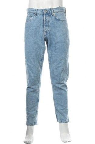 Мъжки дънки Zara, Размер M, Цвят Син, 100% памук, Цена 21,76лв.