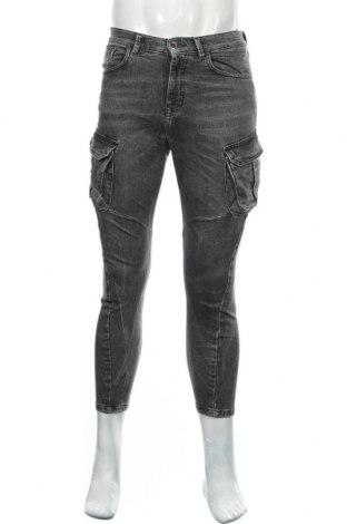 Мъжки дънки Zara, Размер S, Цвят Сив, 99% памук, 1% еластан, Цена 21,76лв.