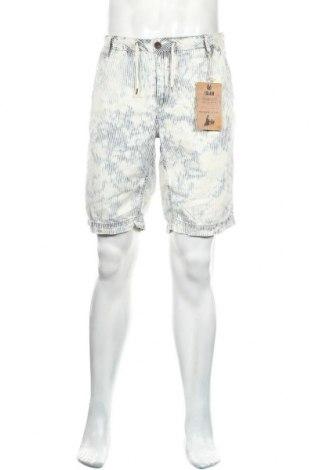 Pantaloni scurți de bărbați ! Solid, Mărime L, Culoare Albastru, Bumbac, Preț 56,28 Lei