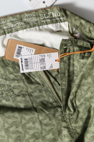 Мъжки къс панталон Blend, Размер M, Цвят Зелен, Памук, Цена 18,33лв.
