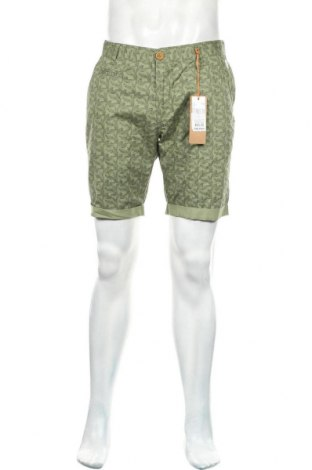 Мъжки къс панталон Blend, Размер L, Цвят Зелен, Памук, Цена 18,33лв.