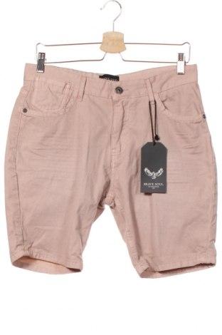 Мъжки къс панталон Brave Soul, Размер S, Цвят Розов, Памук, Цена 13,86лв.