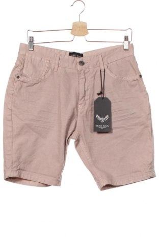 Мъжки къс панталон Brave Soul, Размер S, Цвят Розов, Памук, Цена 13,72лв.