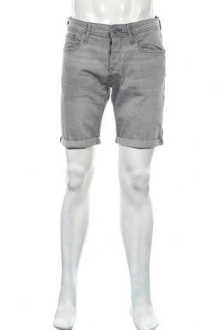 Мъжки къс панталон Jack & Jones, Размер M, Цвят Сив, 98% памук, 2% еластан, Цена 40,50лв.