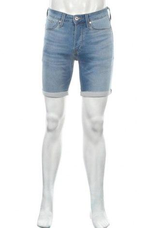 Мъжки къс панталон Jack & Jones, Размер S, Цвят Син, 77% памук, 22% полиестер, 1% еластан, Цена 29,76лв.