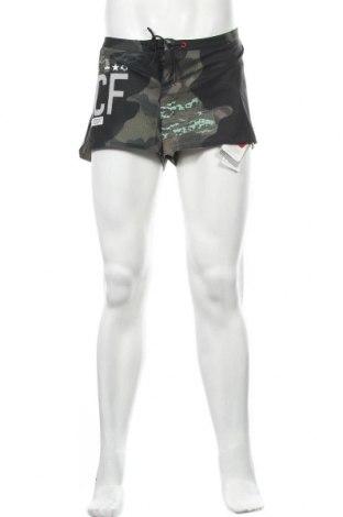 Pantaloni scurți de bărbați Reebok, Mărime L, Culoare Multicolor, 87% poliester, 13% elastan, Preț 102,63 Lei