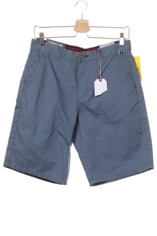 Мъжки къс панталон Springfield, Размер S, Цвят Син, Памук, Цена 13,00лв.