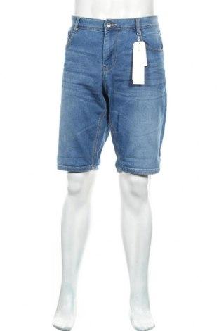 Мъжки къс панталон Tom Tailor, Размер L, Цвят Син, 85% памук, 14% полиестер, 1% еластан, Цена 35,40лв.