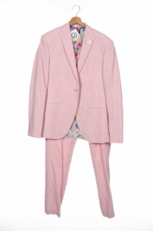 Ανδρικό κοστούμι Isaac Dewhirst, Μέγεθος M, Χρώμα Ρόζ , 55% λινό, 45% βαμβάκι, Τιμή 26,21€