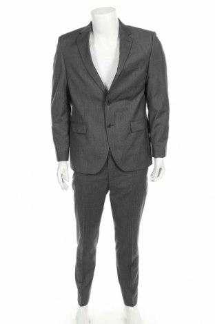 Costum de bărbați Otto Kern, Mărime L, Culoare Gri, Lână, Preț 531,41 Lei