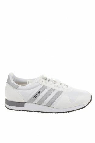 Ανδρικά παπούτσια Adidas Originals, Μέγεθος 45, Χρώμα Λευκό, Κλωστοϋφαντουργικά προϊόντα, δερματίνη, Τιμή 39,20€