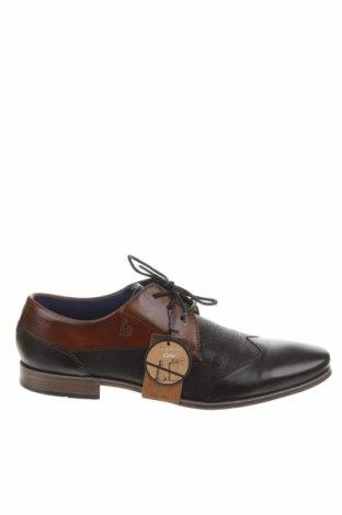Ανδρικά παπούτσια Bugatti, Μέγεθος 43, Χρώμα Μαύρο, Γνήσιο δέρμα, Τιμή 53,12€