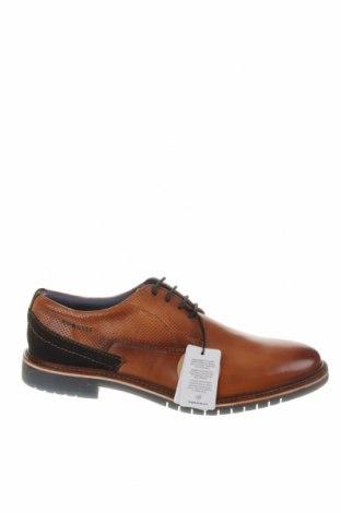 Ανδρικά παπούτσια Bugatti, Μέγεθος 45, Χρώμα Καφέ, Γνήσιο δέρμα, Τιμή 55,44€