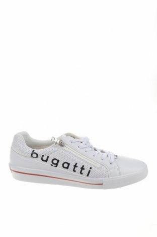 Ανδρικά παπούτσια Bugatti, Μέγεθος 43, Χρώμα Λευκό, Δερματίνη, κλωστοϋφαντουργικά προϊόντα, Τιμή 43,84€