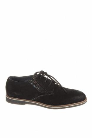Ανδρικά παπούτσια Bugatti, Μέγεθος 40, Χρώμα Μαύρο, Γνήσιο δέρμα, Τιμή 55,44€