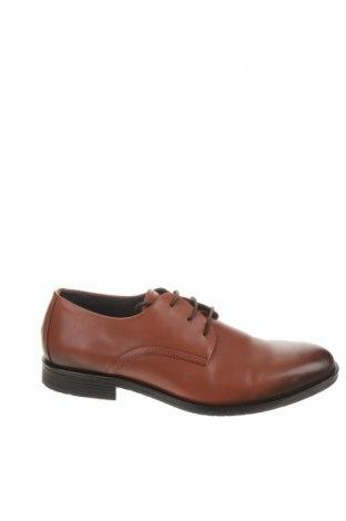 Ανδρικά παπούτσια Tommy Hilfiger, Μέγεθος 44, Χρώμα Καφέ, Γνήσιο δέρμα, Τιμή 43,84€