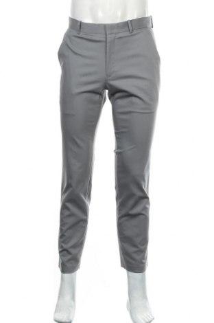 Мъжки панталон Alfani, Размер M, Цвят Сив, 65% памук, 32% полиамид, 3% еластан, Цена 13,23лв.