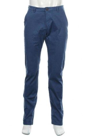Pantaloni de bărbați Bugatti, Mărime M, Culoare Albastru, 96% bumbac, 4% elastan, Preț 135,43 Lei