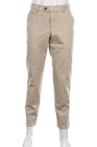 Мъжки панталон Christian Berg, Размер L, Цвят Бежов, 97% памук, 3% еластан, Цена 31,15лв.