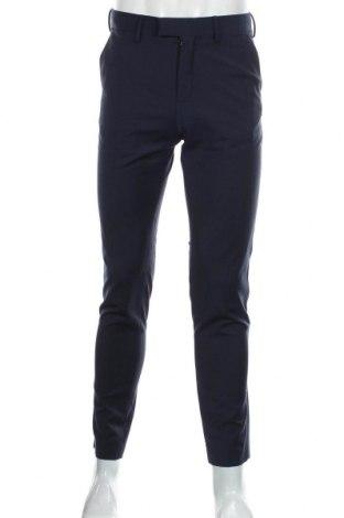 Мъжки панталон H&M, Размер M, Цвят Син, 80% полиестер, 18% вискоза, 2% еластан, Цена 6,30лв.