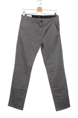 Pánské kalhoty  Hugo Boss, Velikost M, Barva Šedá, 97% bavlna, 3% elastan, Cena  2457,00Kč