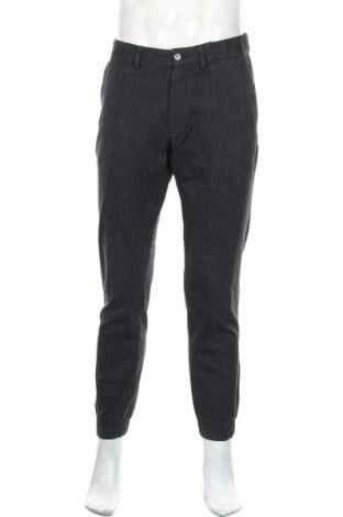 Мъжки панталон Massimo Dutti, Размер M, Цвят Син, 99% памук, 1% еластан, Цена 14,49лв.