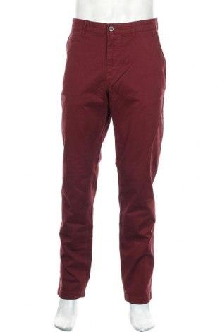 Мъжки панталон Paul Hunter, Размер L, Цвят Червен, 98% памук, 2% еластан, Цена 25,44лв.