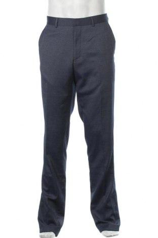 Мъжки панталон S.Oliver, Размер L, Цвят Син, 77% полиестер, 21% вискоза, 2% еластан, Цена 21,42лв.