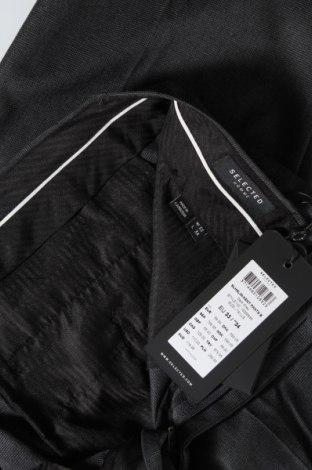Мъжки панталон Selected Homme, Размер L, Цвят Сив, 64% полиестер, 34% вискоза, 2% еластан, Цена 74,25лв.