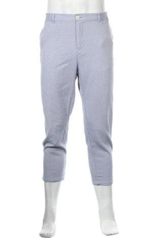 Мъжки панталон Zara, Размер XL, Цвят Син, 48% памук, 28% полиестер, 23% вискоза, 1% еластан, Цена 19,20лв.