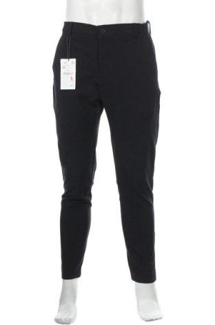 Мъжки панталон Zara, Размер M, Цвят Син, 62% полиестер, 34% вискоза, 4% еластан, Цена 20,70лв.