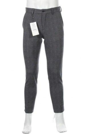 Мъжки панталон Zara, Размер M, Цвят Сив, 64% полиестер, 32% вискоза, 4% еластан, Цена 20,70лв.