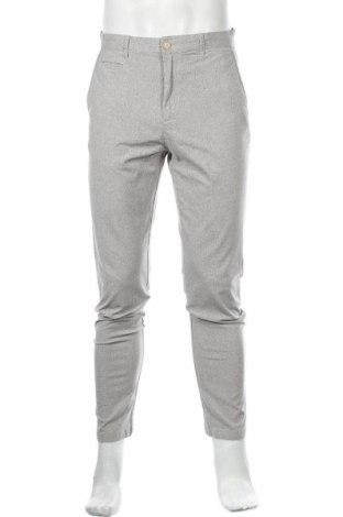 Мъжки панталон Zara, Размер M, Цвят Сив, 52% вискоза, 36% памук, 11% полиестер, 1% еластан, Цена 19,20лв.