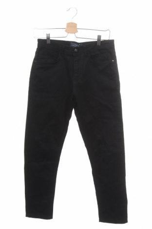 Мъжки панталон Zara Man, Размер S, Цвят Черен, 98% памук, 2% еластан, Цена 18,60лв.