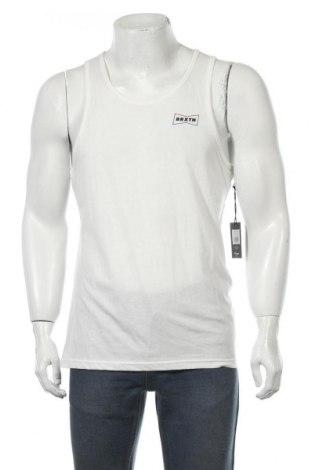 Мъжки потник Brixton, Размер M, Цвят Бял, 60% памук, 40% полиестер, Цена 9,75лв.