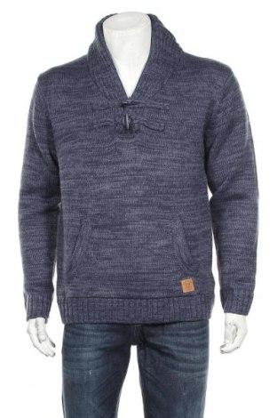 Мъжки пуловер, Размер L, Цвят Син, 100% полиакрил, Цена 25,88лв.