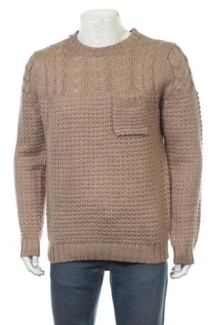 Мъжки пуловер Allcott, Размер XXL, Цвят Бежов, 85% акрил, 15% вълна, Цена 15,12лв.